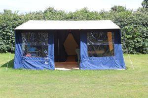 Front view of Cabanon Espace Family Tent