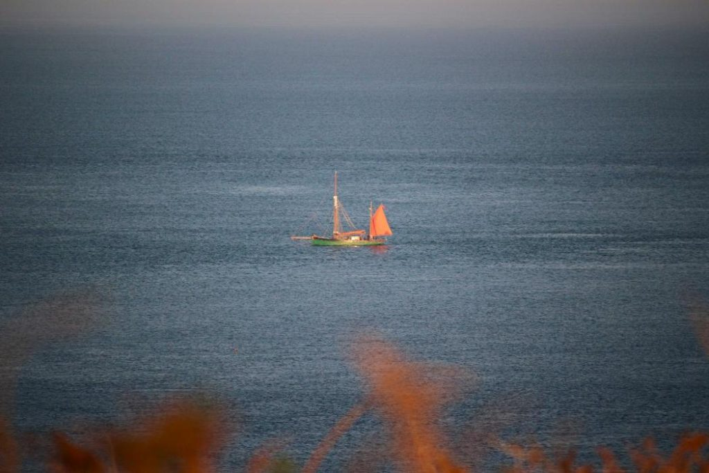 Sailing Boat off South Coast of Guernsey